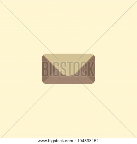 Flat Icon Mail Element. Vector Illustration Of Flat Icon Letter Isolated On Clean Background. Can Be Used As Mail, Letter And Envelope Symbols.