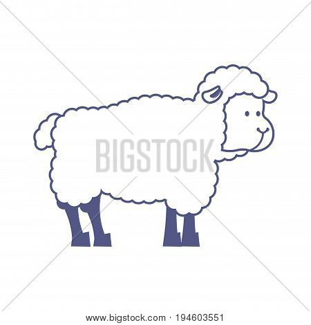 Sheep Farm Isolated Animal. Ewe On White Background
