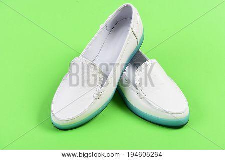 Low Heel Footwear In Sports Style. Summer Fashion