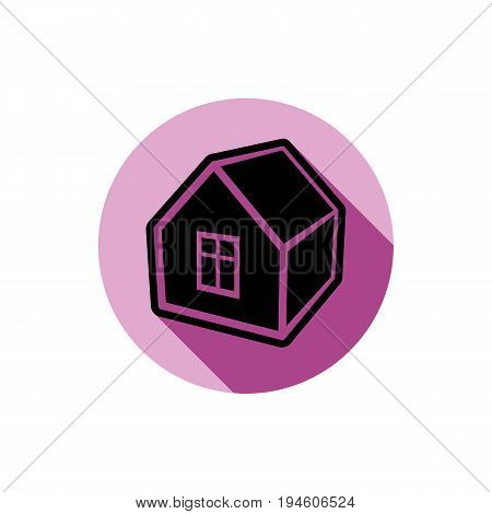 Simple house detailed vector illustration. Property developer conceptual icon real estate emblem. Building modeling and engineering projects abstract symbol.