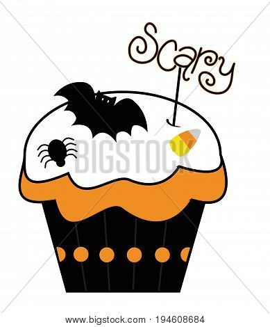 Happy Halloween Holiday Scary Cupcake Treat Goodie