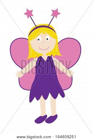 Festive Happy Halloween Holiday Fairy in Costume