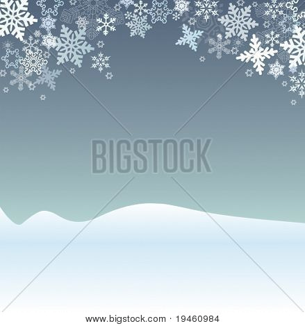 Winter Holiday Scene Vector