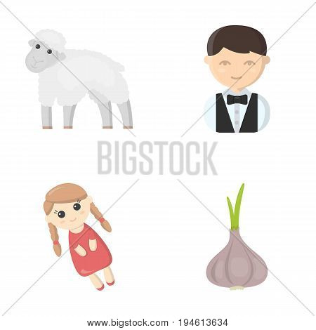 business, ecology, profession and other  icon in cartoon style. leaves, vegetable, seasoning, icons in set collection.