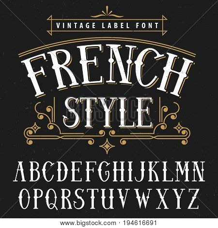 French style vintage poster good to use in any vintage style vector illustration