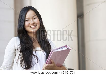 An attractive Asian college student portrait