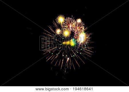 Fireworks in the sky,Background with light in the night