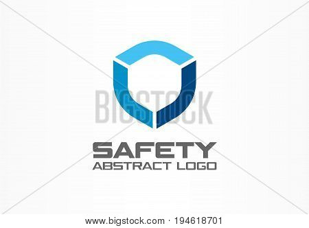 Abstract logo for business company. Corporate identity design element. Guard, shield, secure agency logotype idea. concept. Technology protection, security, safety concept. Colorful Vector icon
