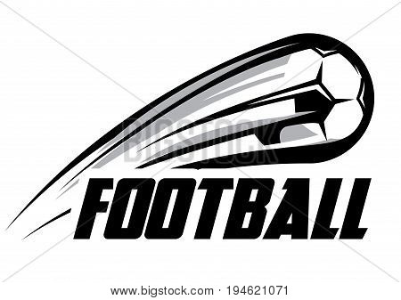 Vector color logo template with soccer ball.