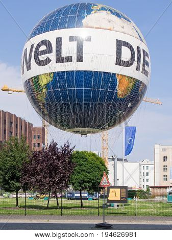 BERLIN GERMANY - JULY 9 2017: Hot Air Balloon
