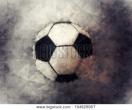Polygon triangles soccer ball