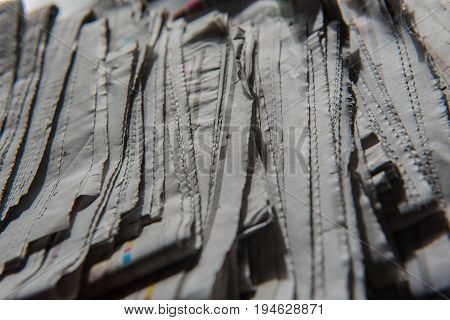 closeup Stacked and piled up newspapers for  background.