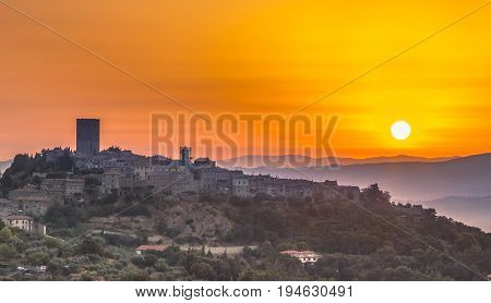 Tuscan Village At Sunrise