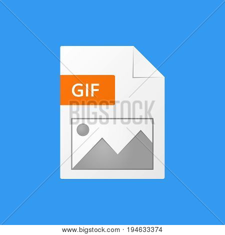 gif document vector illustration  gif file format  icon