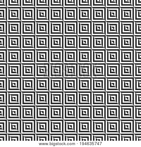 Retro memphis geometric square shapes seamless abstract patterns. Hipster fashion 80-90s. Jumble textures. Optical illusion effect. Memphis style for printing, website, fabric design, poster, cards