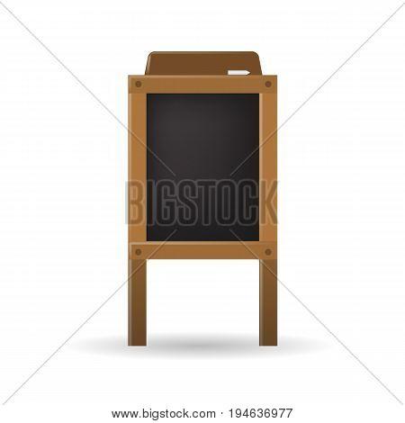 Special menu announcement blackboard. Vector empty restaurant board for your design.