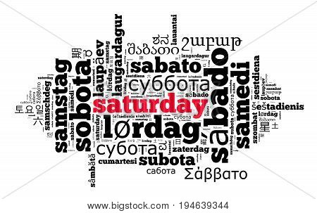 Word Saturday In Different Languages