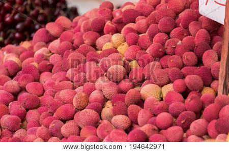 New Harvest Lychees Sold At Local Market