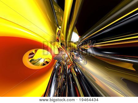 red&yellow tunel