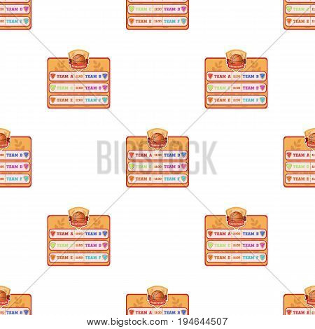 Placard on the basketball court.Basketball pattern icon in cartoon style vector symbol stock illustration .