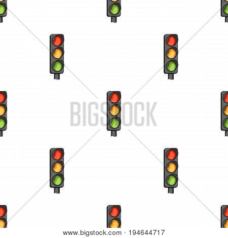 Traffic light for vehicles.Car single icon in cartoon style vector symbol stock illustration .