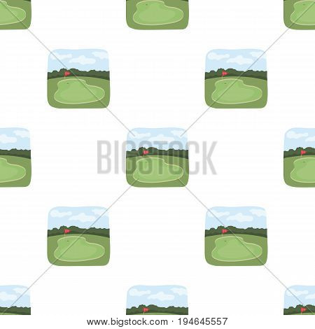 Golf course.Golf club single icon in cartoon style vector symbol stock illustration .