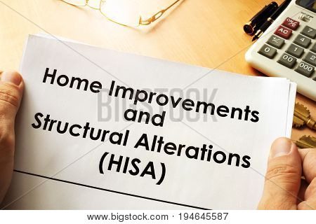 Document with name Home Improvements and Structural Alterations (HISA)