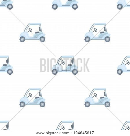 Car for golf.Golf club single icon in cartoon style vector symbol stock illustration .