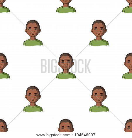 African.Human race single icon in cartoon style vector symbol stock illustration .