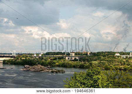 Hydro Power Station In The Zaporozhye
