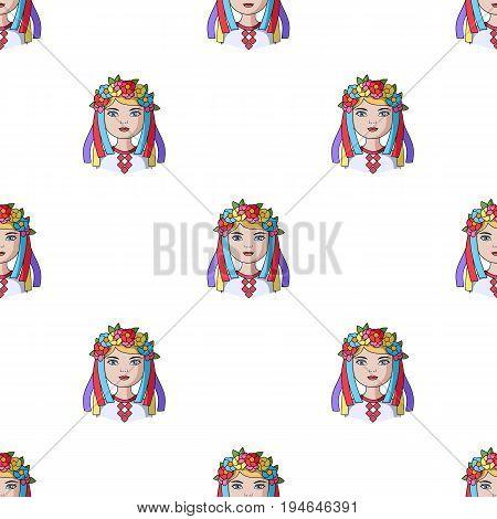 Ukrainian.Human race single icon in cartoon style vector symbol stock illustration .