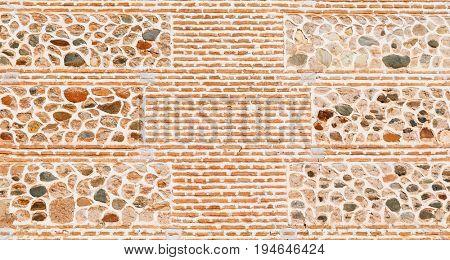 Texture of Alhambra buildings wall, Granada, Spain