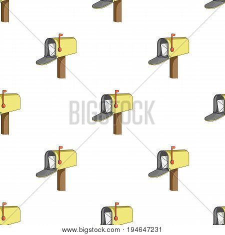Correspondence box.Mail and postman pattern icon in cartoon style vector symbol stock illustration .