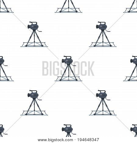 Camera moving on rails.Making movie single icon in cartoon style vector symbol stock illustration .