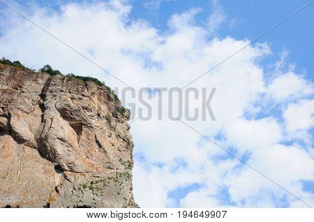 rock formations at the DaLong waterfall scenic area within Yandangshan scenic area near Yandang Town Yueqing County Zhejiang province China.