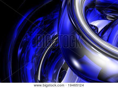 chrom in blue light