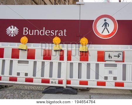 BERLIN GERMANY - JULY 9 2017: Politics Concept: Building Work At The German Bundesrat In Berlin