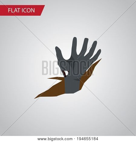 Isolated Corpse Hand Flat Icon. Zombie Vector Element Can Be Used For Zombie, Corpse, Hand Design Concept.