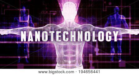 Nanotechnology as a Digital Technology Medical Concept Art 3D Render