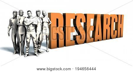 Business People Team Focusing on Improving Research as a Concept 3D Render