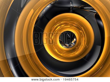 golden ring in the space (abstract) 02