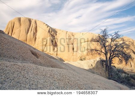 Rock formation in desert