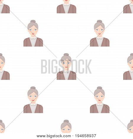 Elderly woman.Od age single icon in cartoon style vector symbol stock illustration .