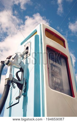 Petrol pump, close-up