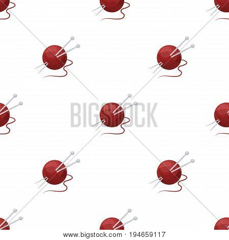 Knitting.Old age single icon in cartoon style vector symbol stock illustration .