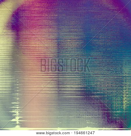 Vintage elegant background, creased grunge backdrop with aged texture and different color patterns: yellow (beige); gray; blue; purple (violet); cyan; pink