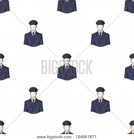 Pilot.Professions single icon in cartoon style vector symbol stock illustration .