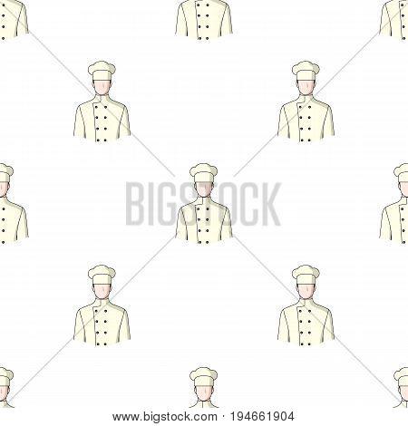 Chef.Professions single icon in cartoon style vector symbol stock illustration .