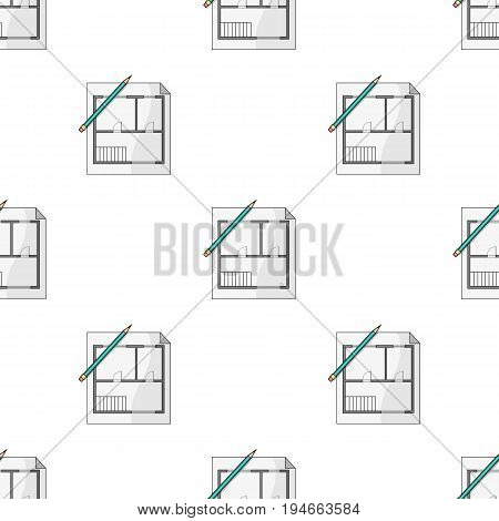 House plan.Realtor single icon in cartoon style vector symbol stock illustration .