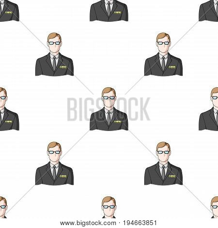 Male realtor.Realtor single icon in cartoon style vector symbol stock illustration .